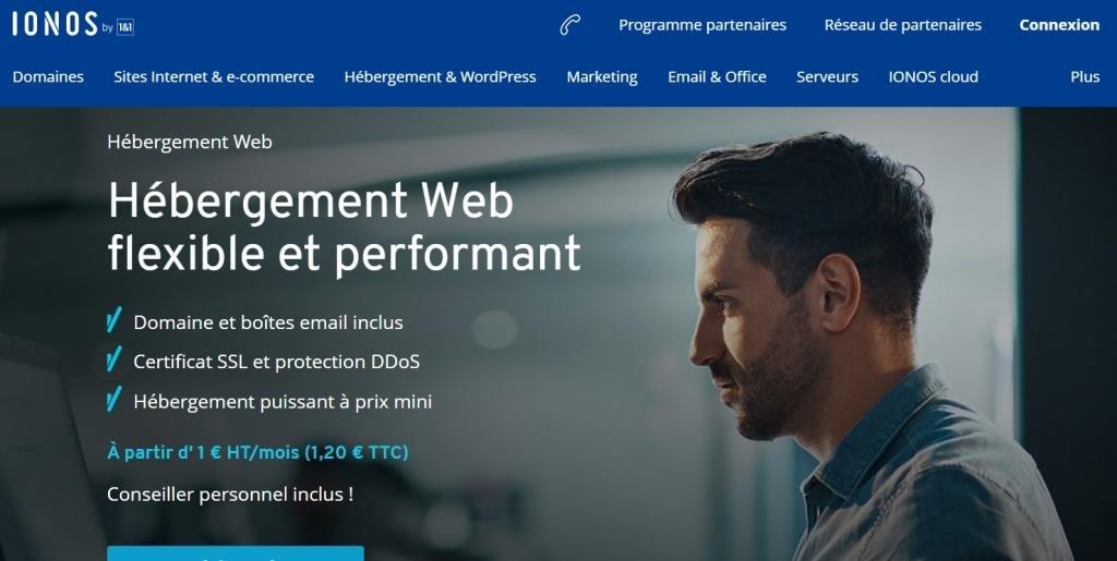 Plans Hébergement de site internet Ionos