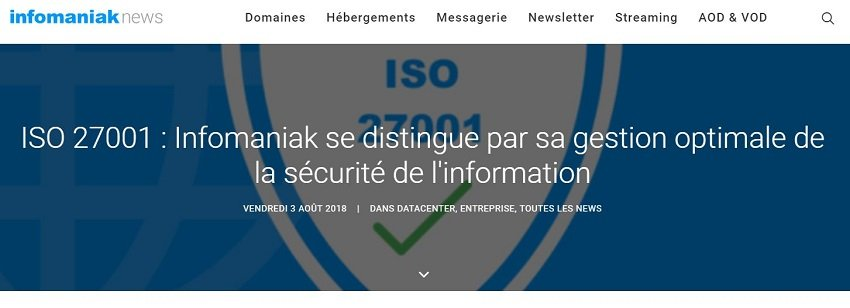 PCIS-DSS Infomaniak