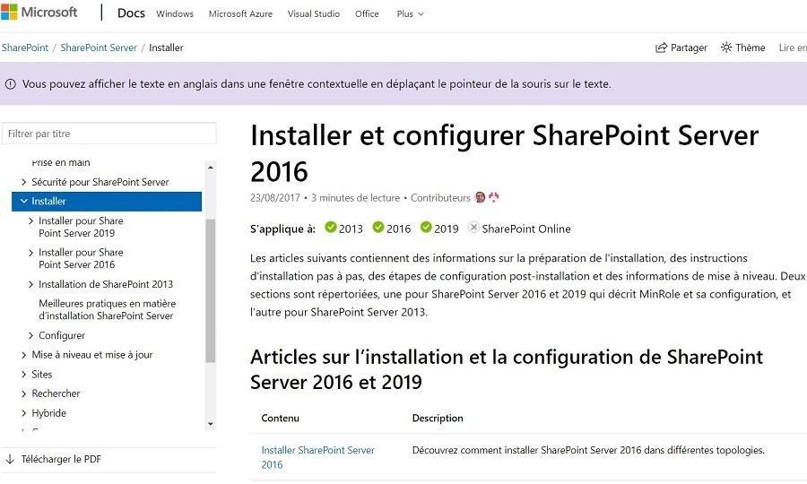 Comment installer SharePoint sur un hébergeur Web