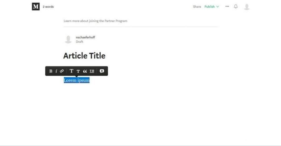 Medium pour blogging