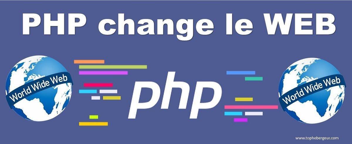 PHP a changé le WEB